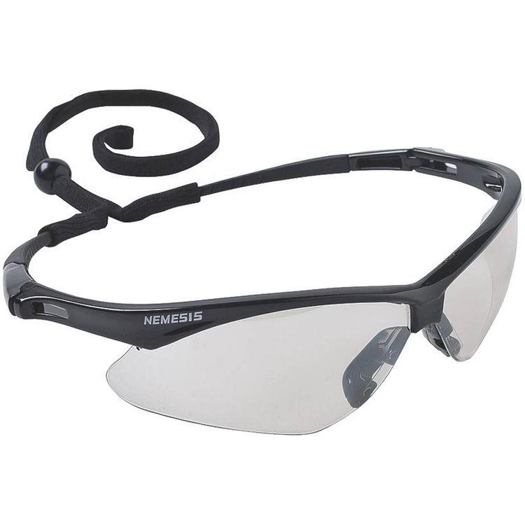 Jackson 3000354 Nemesis V30 Safety Glass, Clear Anti-Scratch Polycarbonate Lens, Black Nylon Frame