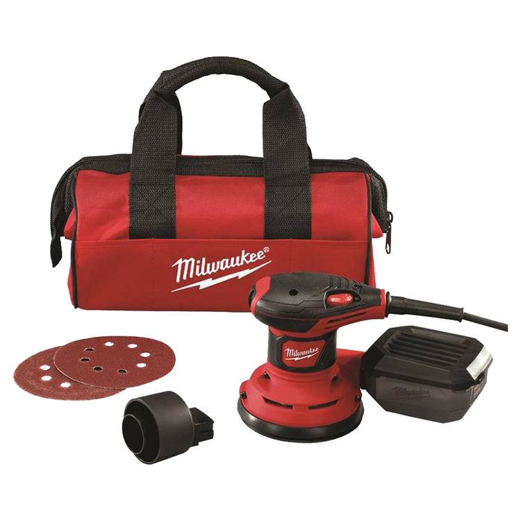 Milwaukee 6034-21 Milwaukee 6034-21 Random Orbital Sanders, 3.0 Amp, 5 Inch