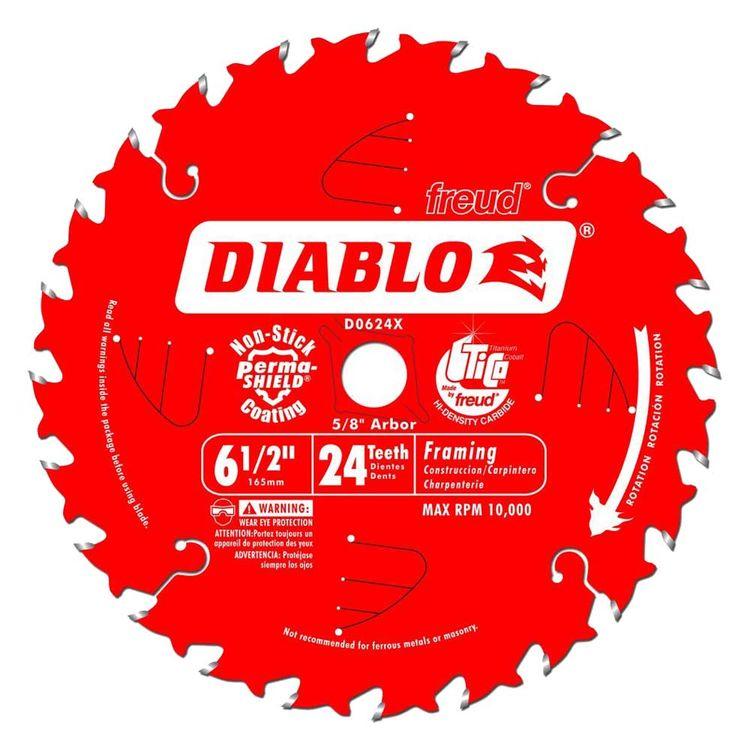 Diablo D0624X Diablo D0624X 6-1/2-Inch 24T Circular Saw Blade