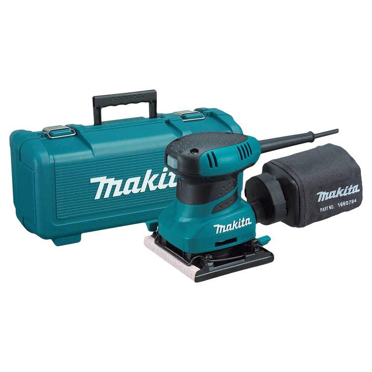 Makita BO4556K MAKITA BO4556K 1/4 SHEET FINISHING SANDER, 2 AMP,,14,000 OPM, CASE,