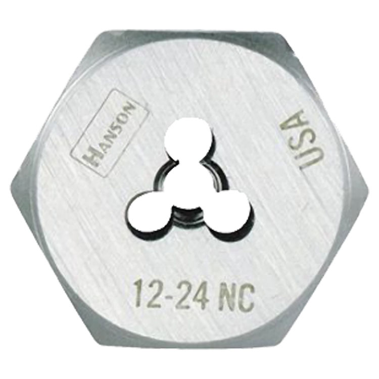 Irwin 9332ZR Hanson 9332ZR Machine Screw Hexagonal Die, 12-24 NC, 1\