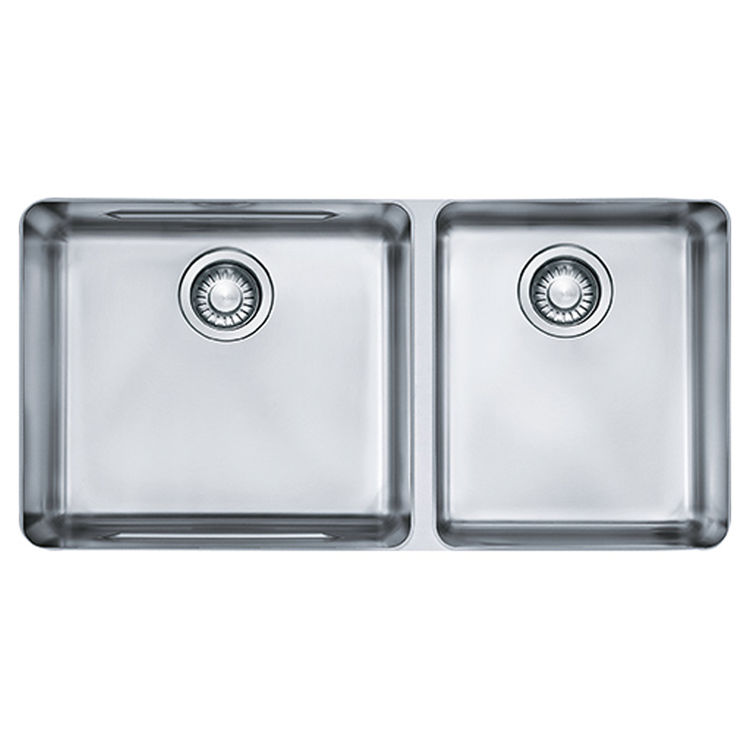 View 2 of Franke KBX12034 Franke KBX12034 Double Bowl Undermount Stainless Undermount Sink - Stainless