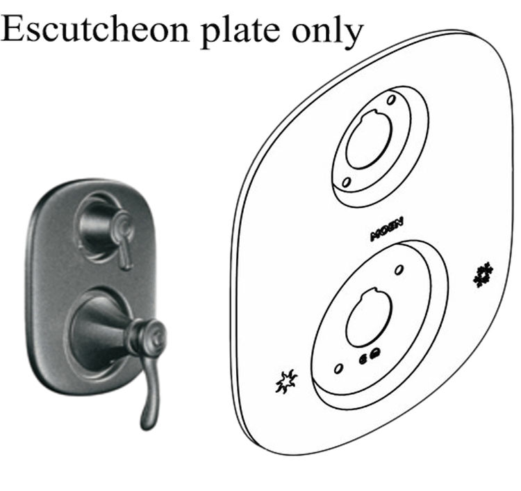 Moen 135149PW Moen 135149PW Part Three Function Escutcheon Kit, Neutral, Wrought Iron