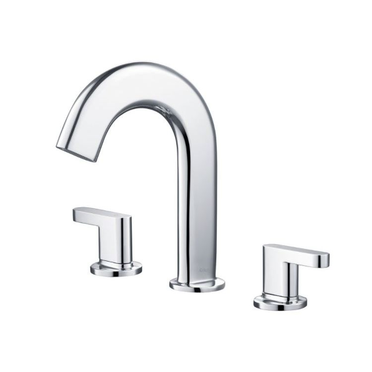 Kraus KEF-15703CH Kraus KEF-15703CH Chrome Ino Two Handle Widespread Lavatory Faucet