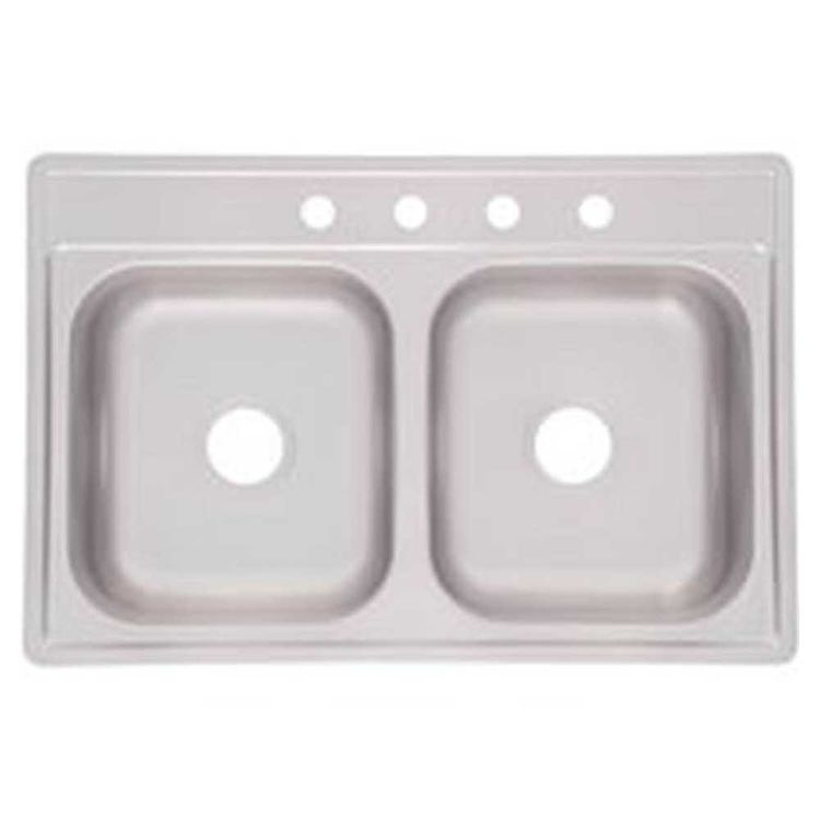 View 3 of Franke FDS604NB Franke Consumer FDS604NB Kitchen Sink, 22 in H X 33 in W X 6 in D, Stainless Steel, Satin