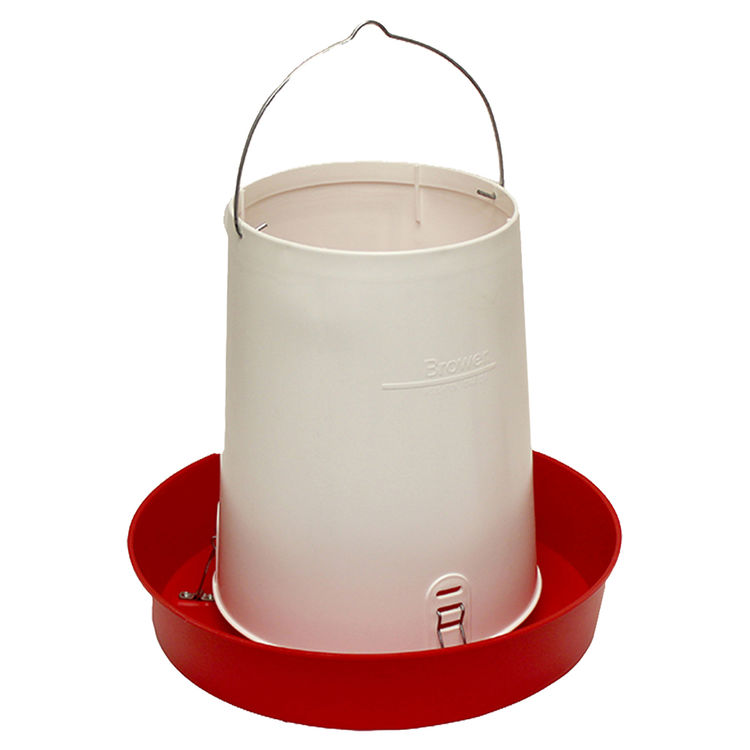 Brower HF30 Brower HF30 Hanging Feeder, 30 lb Capacity, 16-1/2 in Dia 14-5/8 in H, Polyethylene