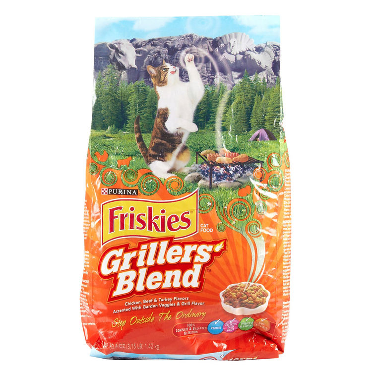 Purina 5000046179 Nestle Purina 5000046179 Friskies Grillers Blend Cat Food, Dry, 3.15 Lb