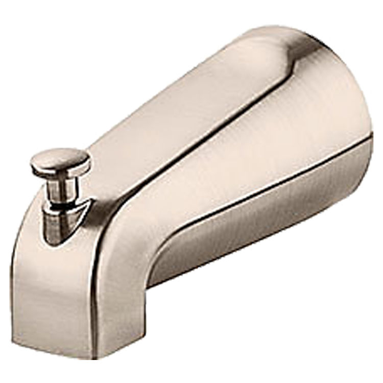 View 2 of Pfister 920-185K Pfister 920-185J Modern Quick Connect Tub Spout, Nickel