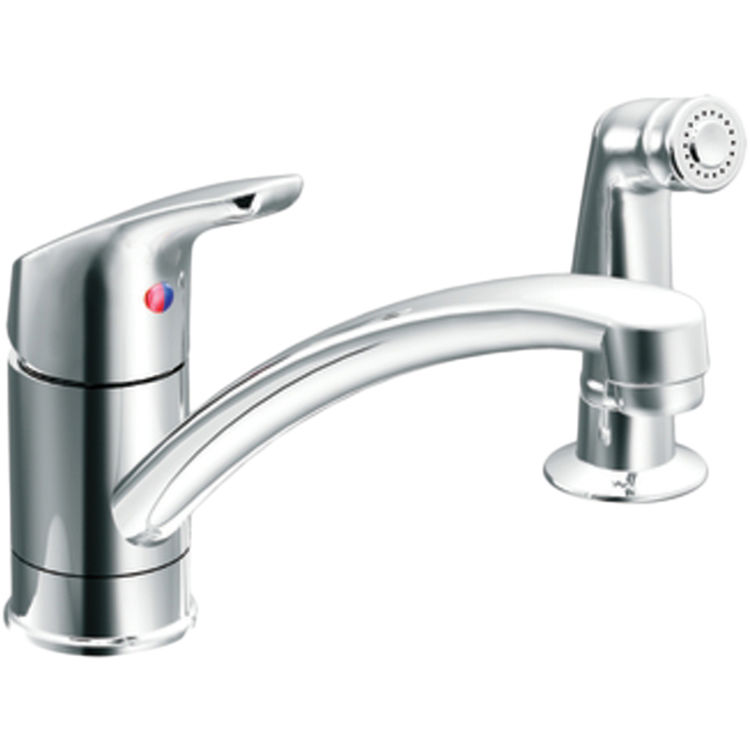 Cleveland Faucet CA42514 Moen CFG CA42514 Baystone Chrome 1-Handle Kitchen Faucet with Side Spray