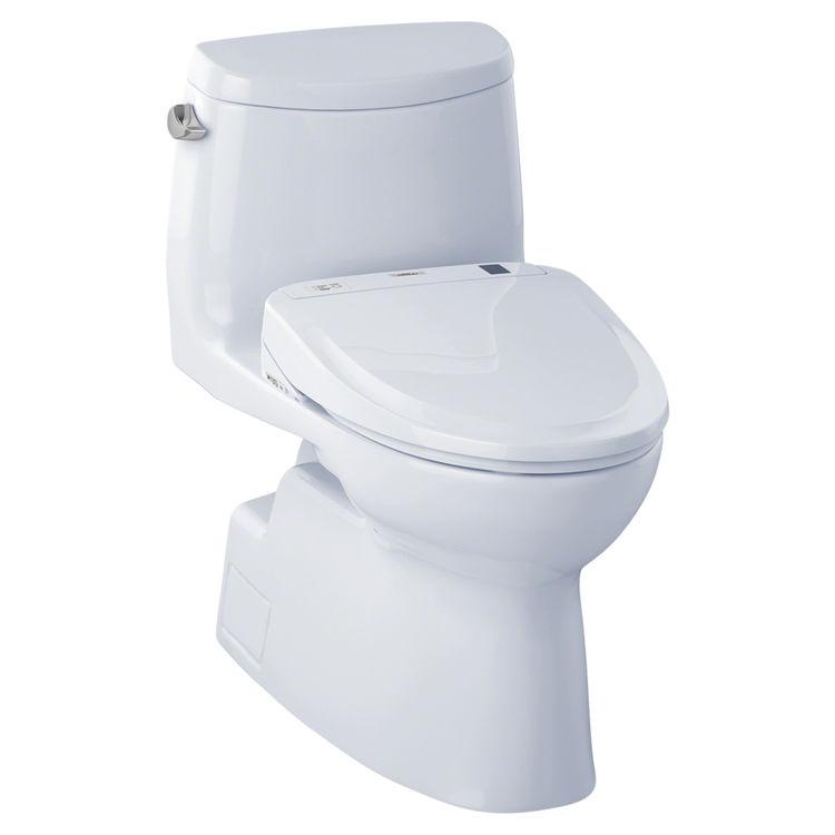 View 2 of Toto MW614574CEFG#01 TOTO MW614574CEFG#01 WASHLET+ Carlyle II One-Piece Toilet w/ S300e - Cotton White, Elongated