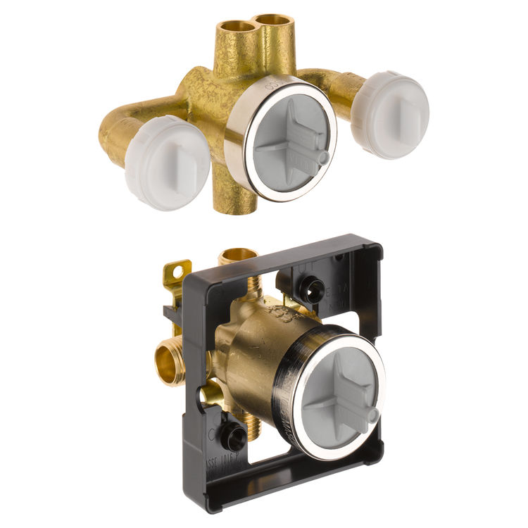 Delta R18000-XO Delta R18000-XO Delta Jetted Shower Rough-In Valve w/ extra Outlet (6-Setting)