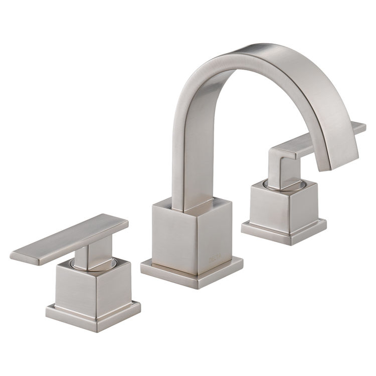 View 2 of Delta 3553LF-SS Delta 3553LF-SS Vero Widespread Two Handle Bathroom Faucet in Stainless