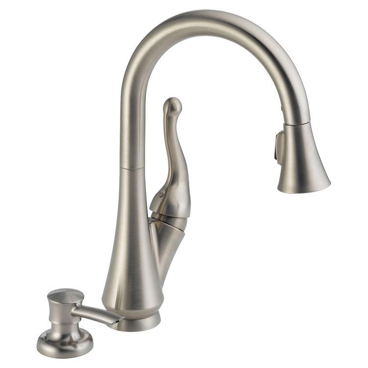 View 2 of Delta 16968-SSSD-DST Delta 16968-SSSD-DST Talbott Stainless Kitchen Pulldown Faucet W/ Soap Dispenser