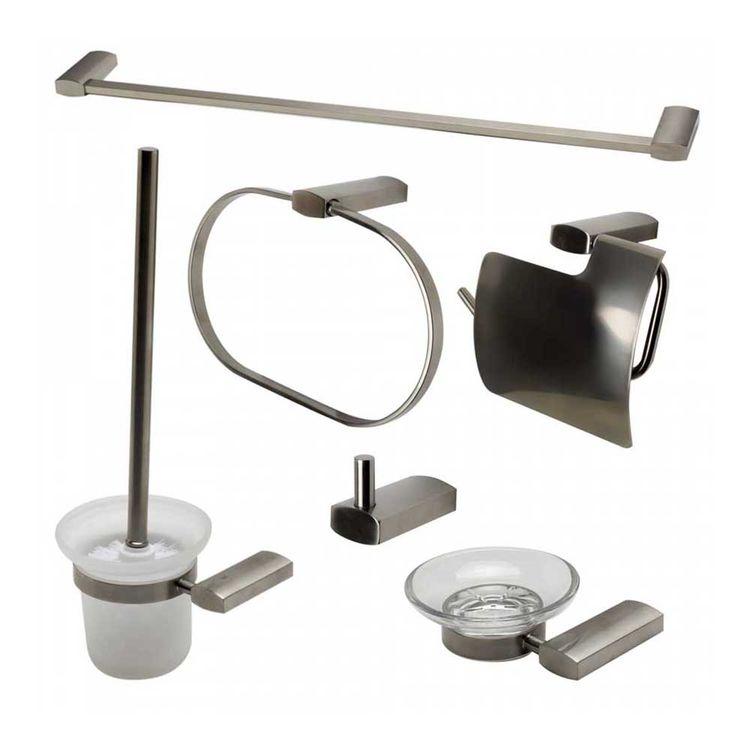Alfi AB9503-BN ALFI AB9503-BN 6-Piece Matching Bathroom Accessory Set, Brushed Nickel
