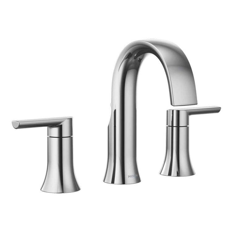 Moen TS983 Moen TS983 Doux Two-Handle High Arc Roman Tub Faucet Trim, Chrome