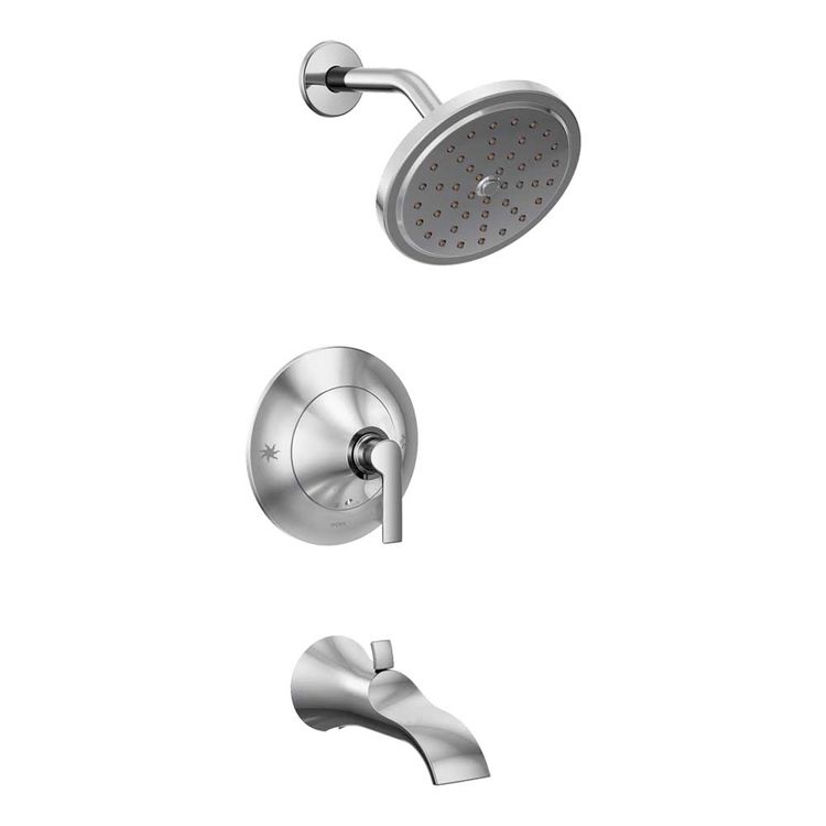 Moen TS2203EP Moen TS2203EP Doux Posi-Temp Tub and Shower Trim, Chrome