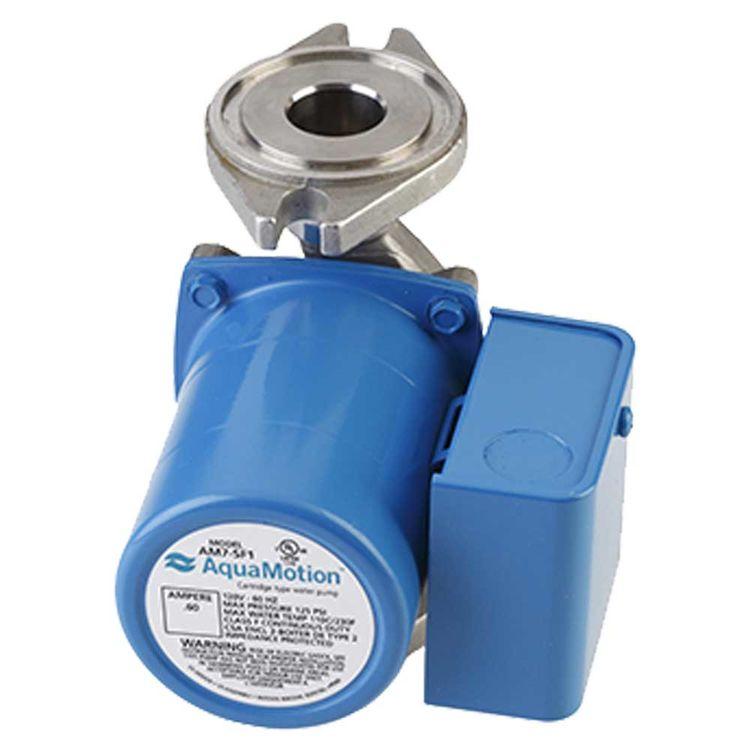 View 2 of Aquamotion AM7-SFV1 AquaMotion AM7-SFV1 Circulator Pump w/ Check Valve, 12 gpm, 0.60 amps, Single Speed, Stainless Steel
