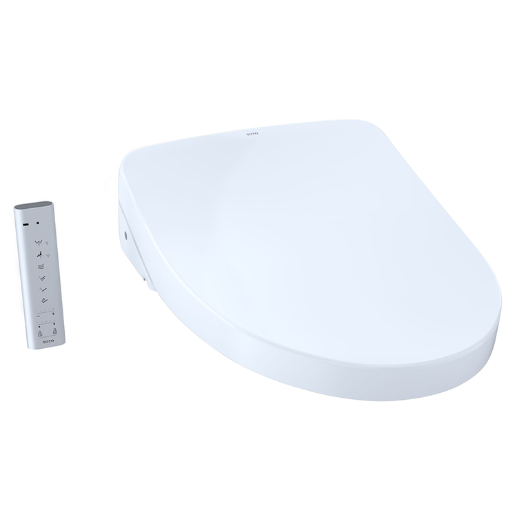 View 2 of Toto SW3046AT40#01 TOTO S500e WASHLET+ and Auto Flush Ready Electronic Bidet Toilet Seat with EWATER+and Contemporary Lid, Elongated, Cotton White - SW3046AT40#01