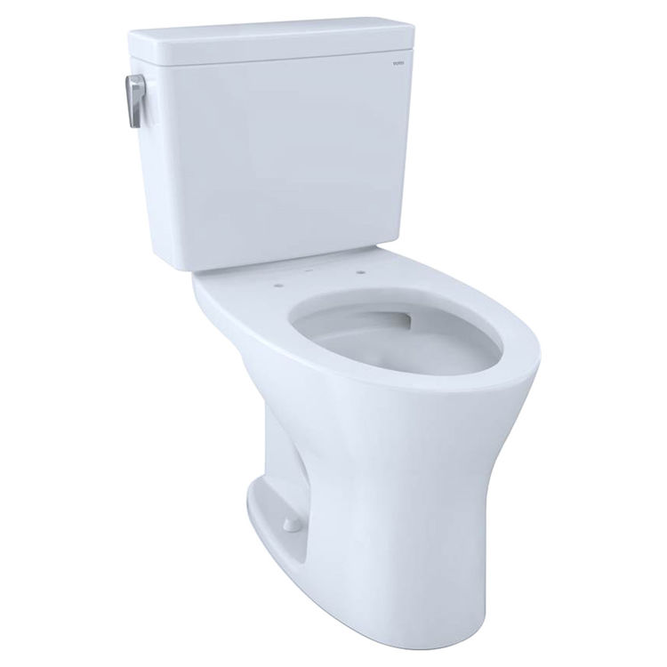 View 2 of Toto CST746CEMG#01 TOTO CST746CEMG#01 Drake Two-Piece Toilet 1.28 GPF & 0.8 GPF Elongated Bowl - Cotton White