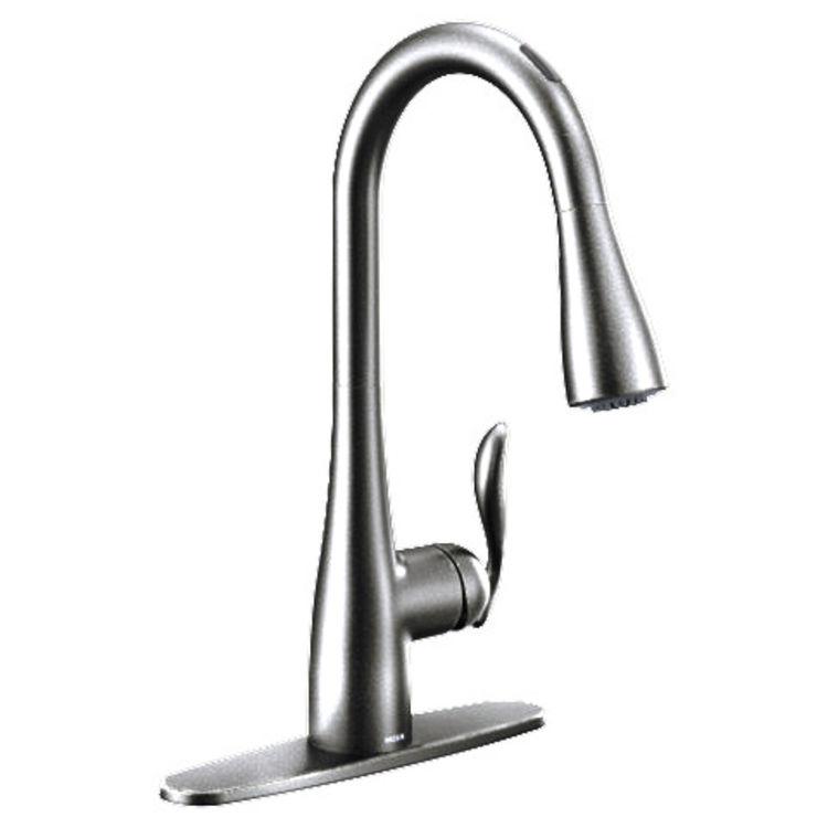 View 2 of Moen 7594EVC Moen 7594EVC Arbor U by Moen Smart Faucet - One-Handle, Pulldown, Chrome
