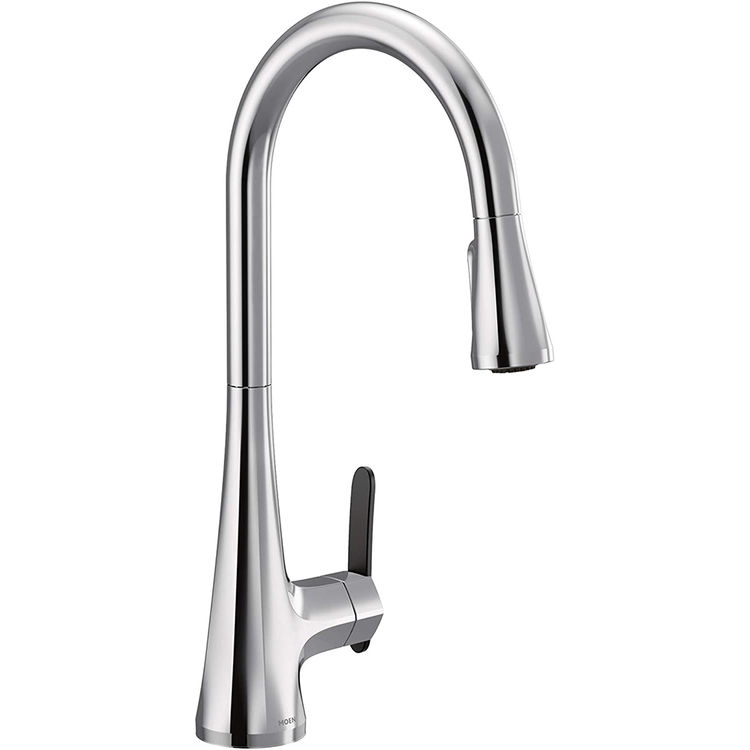 View 2 of Moen S7235 Moen S7235 Sinema One-Handle Pulldown Kitchen Faucet - Chrome