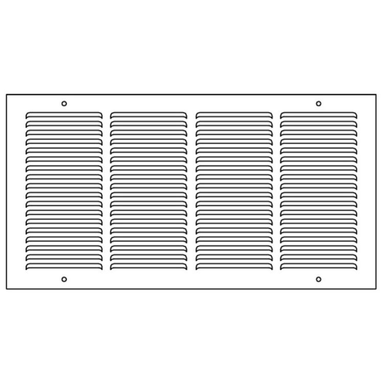 View 5 of Shoemaker 1150-30X10 30x10 Soft White Baseboard Return Air Grille (Steel) - Shoemaker 1150