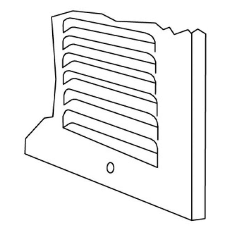View 5 of Shoemaker 1150-14X8 14x8 Soft White Baseboard Return Air Grille (Steel) - Shoemaker 1150