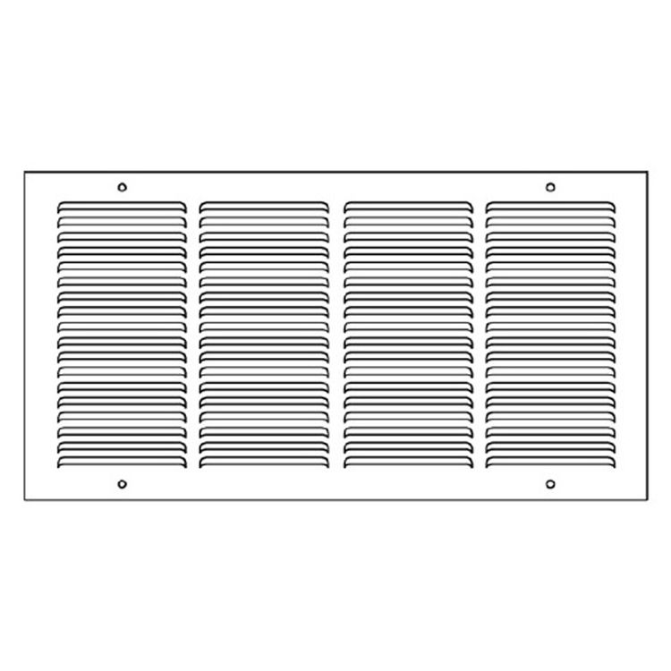 View 4 of Shoemaker 1050-12X20 12x20 Soft White Return Air Grille (Stamped from Cold Roll Steel) - Shoemaker 1050