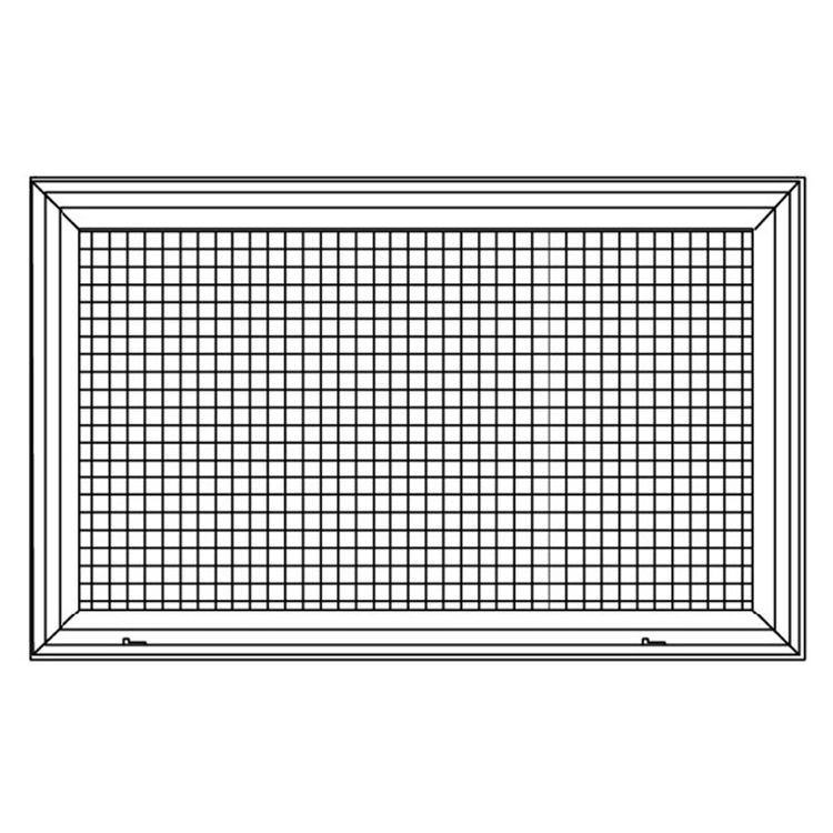 View 6 of Shoemaker 620FG1-18X16 18X16 Soft White Lattice Filter Grille with Steel Frame - Shoemaker 620FG Series