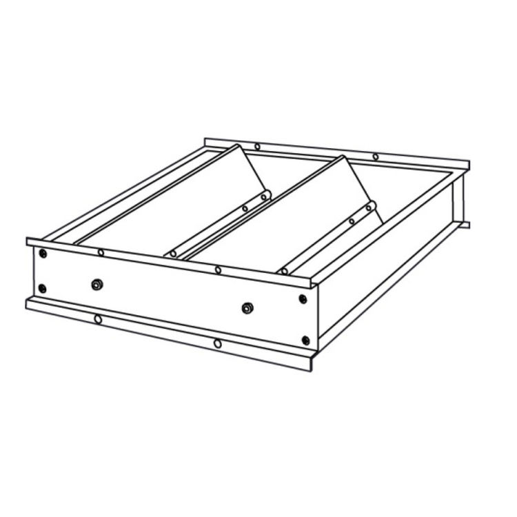 View 3 of Shoemaker 3530-17X17 17X17 Horizontal Mount Air Down Pressure Relief Damper (Aluminum) - Shoemaker 3530