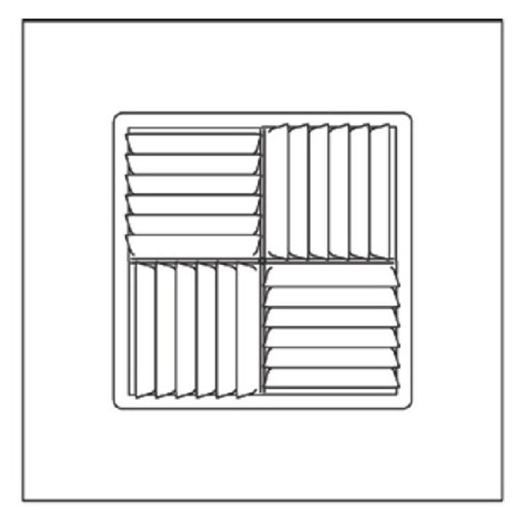 View 3 of Shoemaker 700MA-14X14-6 14X14-6 Soft White Modular Core Diffuser in T-Bar Panel - Shoemaker 700MA