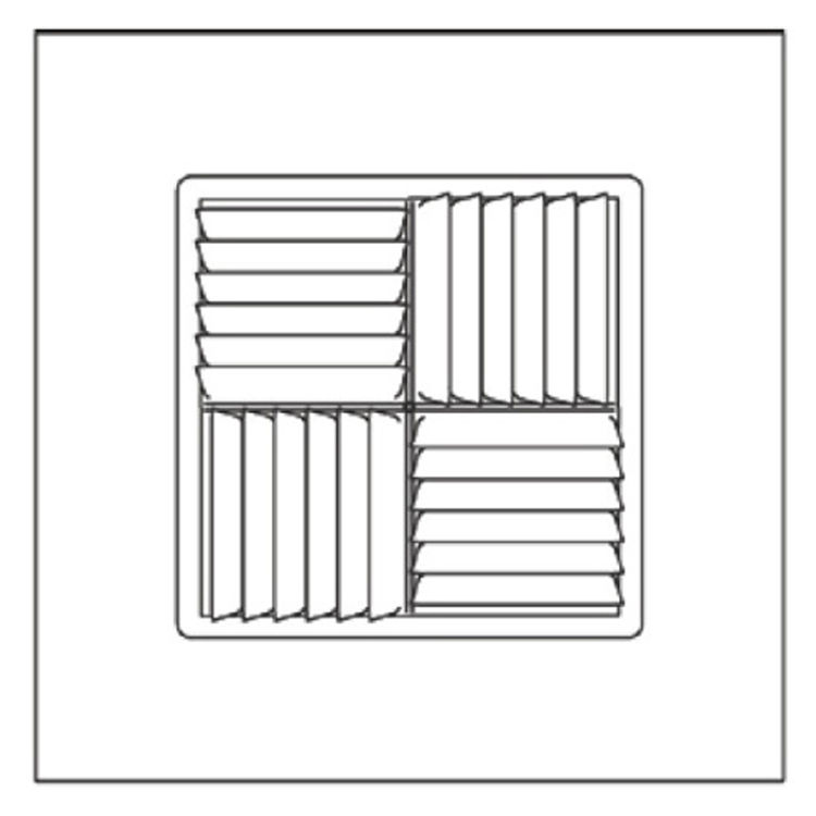 View 4 of Shoemaker 700MA-18X18-14 18X18-14 Soft White Modular Core Diffuser in T-Bar Panel - Shoemaker 700MA