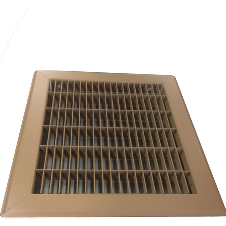 View 5 of Shoemaker 1600-R-20X30 20x30 Driftwood Tan Vent Cover (Steel Honeycomb Construction) - Shoemaker 1600R