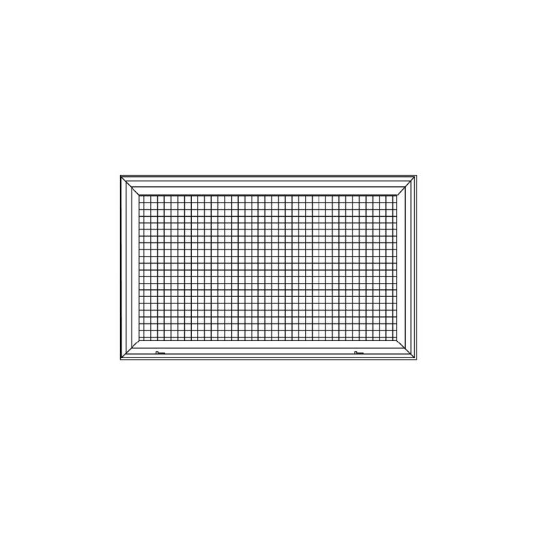 View 4 of Shoemaker 620FG1-40X20 40X20 Soft White Lattice Filter Grille with Steel Frame - Shoemaker 620FG Series