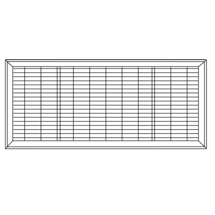 View 6 of Shoemaker 1600-R-28X36 28x36 Driftwood Tan Vent Cover (Steel Honeycomb Construction) - Shoemaker 1600R