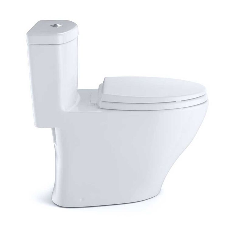 View 6 of Toto MS654114MF#01 Toto MS654114MF#01 Aquia One-Piece Dual Flush Elongated Toilet, 1.6 GPF and 0.9 GPF - Cotton White