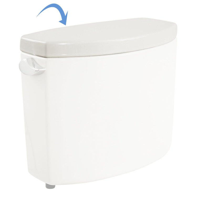 View 3 of Toto TCU454CRE#01 Toto TCU454CRE#01 Cotton White Toilet Tank Lid with Velcro Tape - Replacement