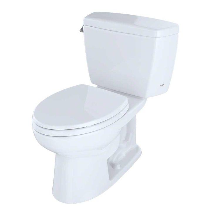 View 4 of Toto CST744SL#01 Toto Drake Two Piece  Elongated Toilet ADA, 1.6 GPF, Cotton White - CST744SL#01