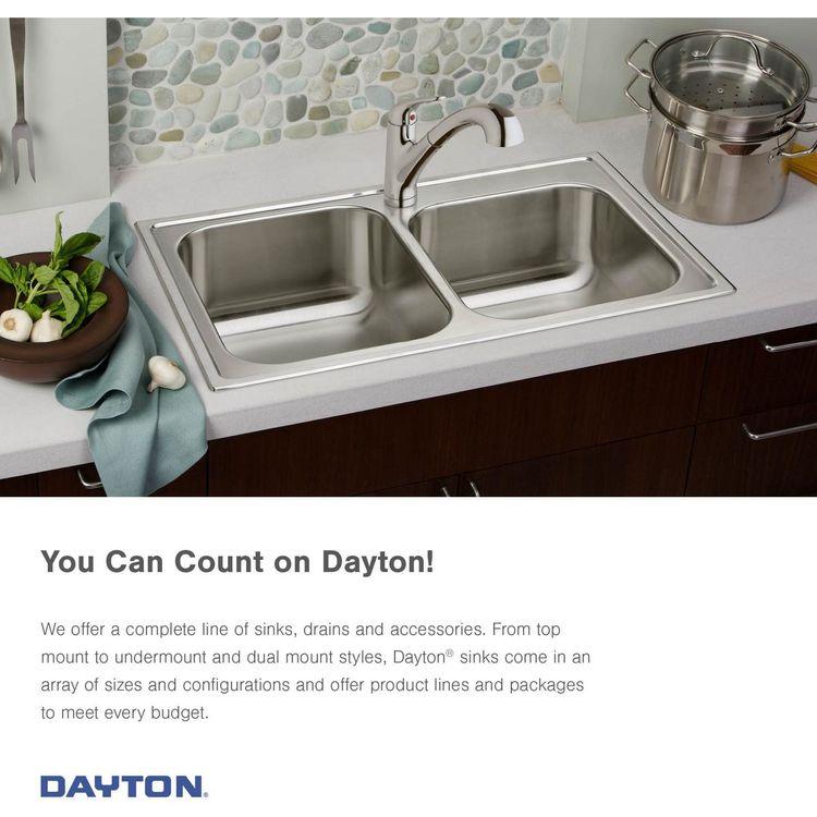 View 3 of Elkay DSESR127224 Elkay DSESR127224 Dayton Stainless Steel Equal Double Bowl Drop-in Sink, Satin