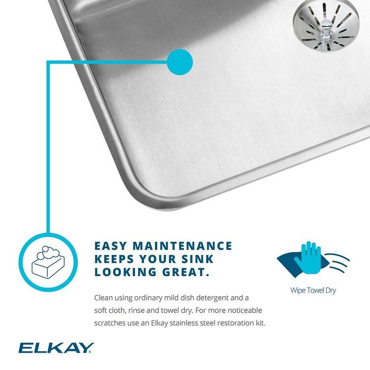 View 4 of Elkay LSR27224 Elkay Lustertone Classic Stainless Steel 27