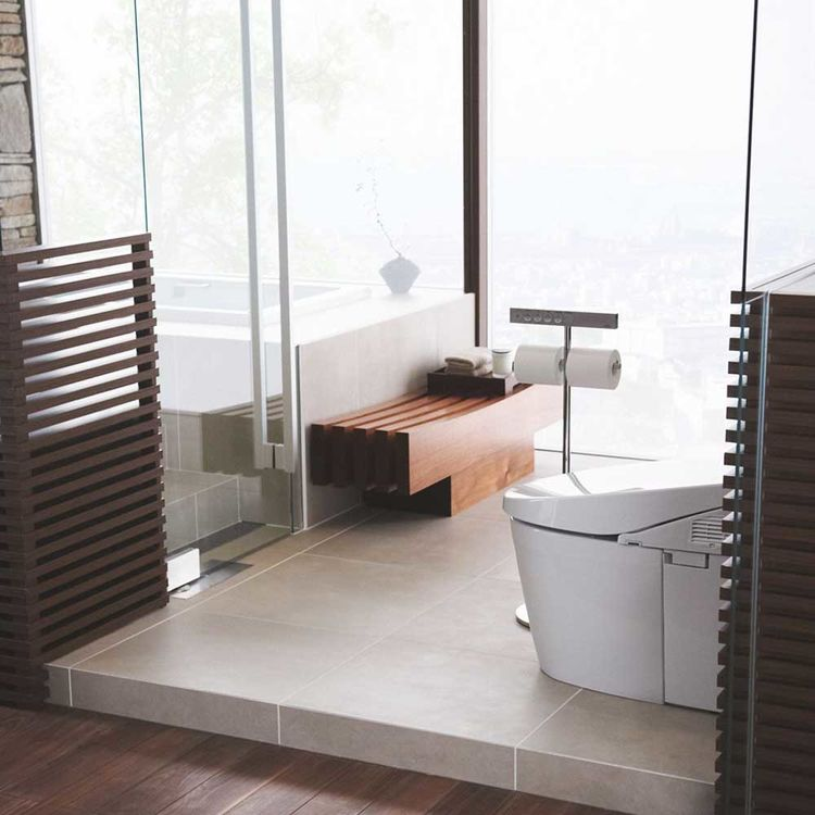 View 9 of Toto MS982CUMG#01 Toto Neorest 550H Dual Flush Toilet - 1.0 or 0.8 GPF, Cotton White - MS982CUMG#01
