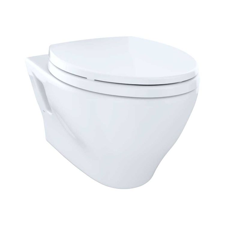 View 3 of Toto CT418F#01 Toto Aquia Wall-Hung Elongated Toilet Bowl with Skirted Design, Cotton White - CT418F#01
