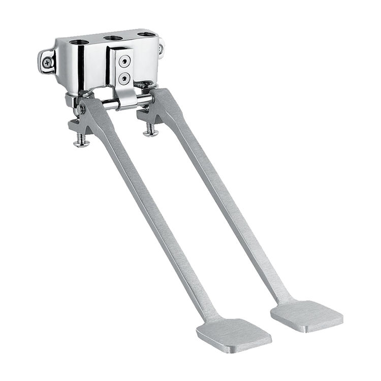 View 2 of Speakman S-3219 Speakman S-3219 Polished Chrome Wall-Mounted Double Foot Pedal