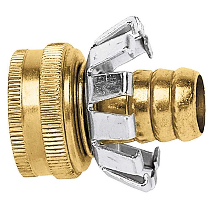 Thrifty 329-T Gilmour C12F Clinch Garden Hose Coupling, 1/2 in, Female, Brass