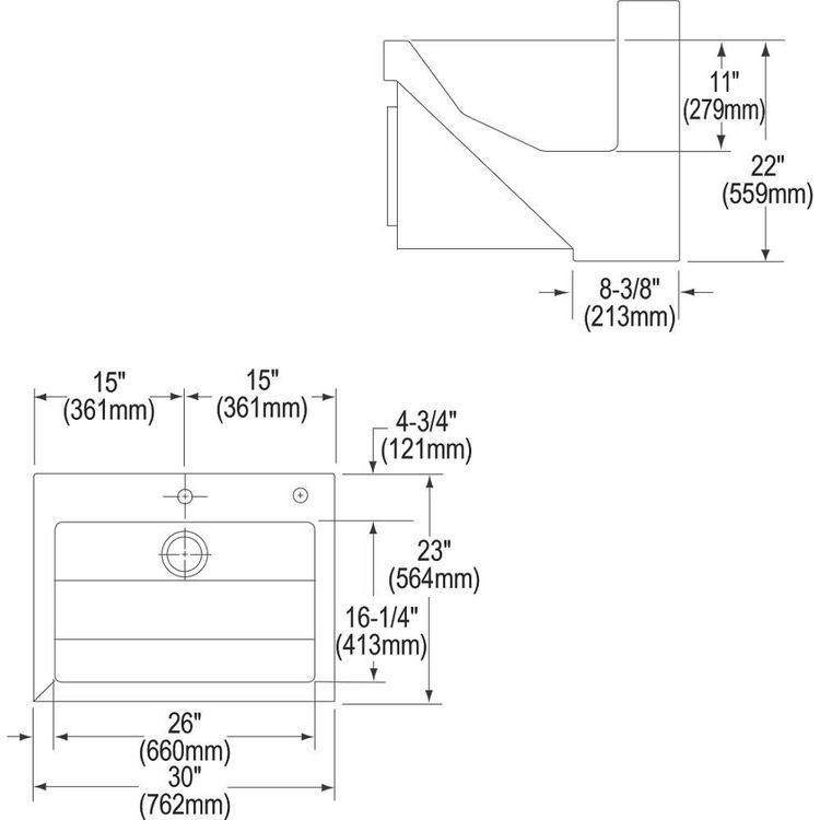 Elkay EWSF13026KWC Manual Single Station Scrub Sink W/ Knee Activated Water