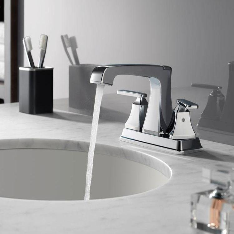 View 3 of Delta 2564-MPU-DST Delta 2564-MPU-DST Ashlyn Chrome Two-Handle Lavatory Faucet