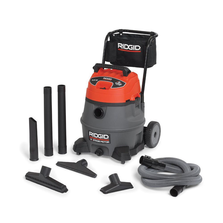 View 5 of Ridgid 50358 Ridgid RV2400A Industrial Fourteen Gallon Two Stage Wet/Dry Vacuum With Cart