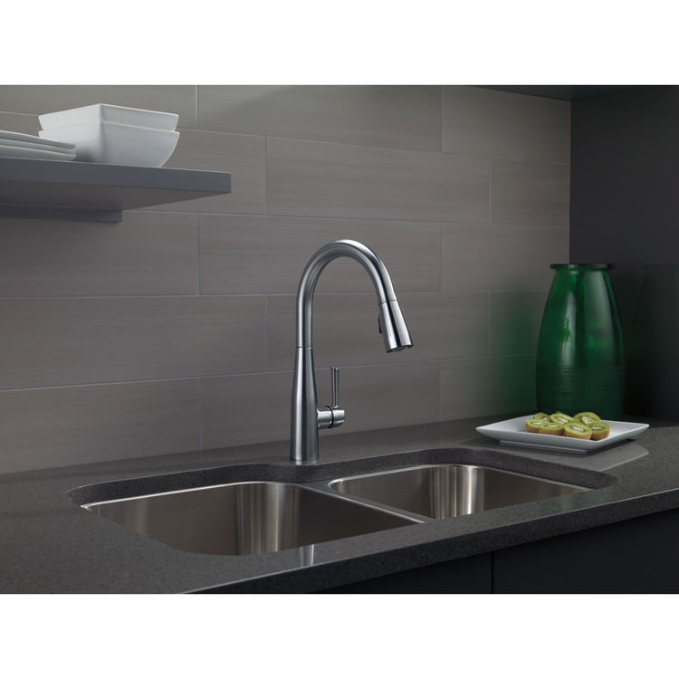 View 5 of Delta 9113-AR-DST Delta 9113-AR-DST Arctic Stainless Single Handle Pulldown Kitchen Faucet