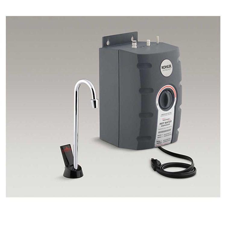 Kohler K 9607 R Cp Hot Water Dispenser W Gooseneck Rough Plate Polished Chrome