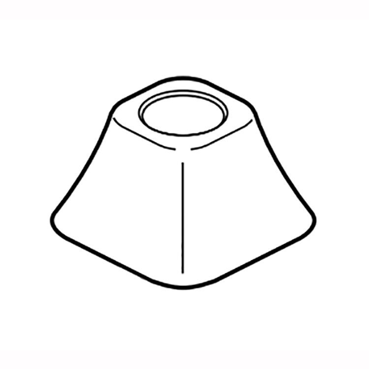 View 3 of Delta RP78522PN Delta RP78522PN Tesla Flange for Roman Tub Hand Shower, Polished Nickel